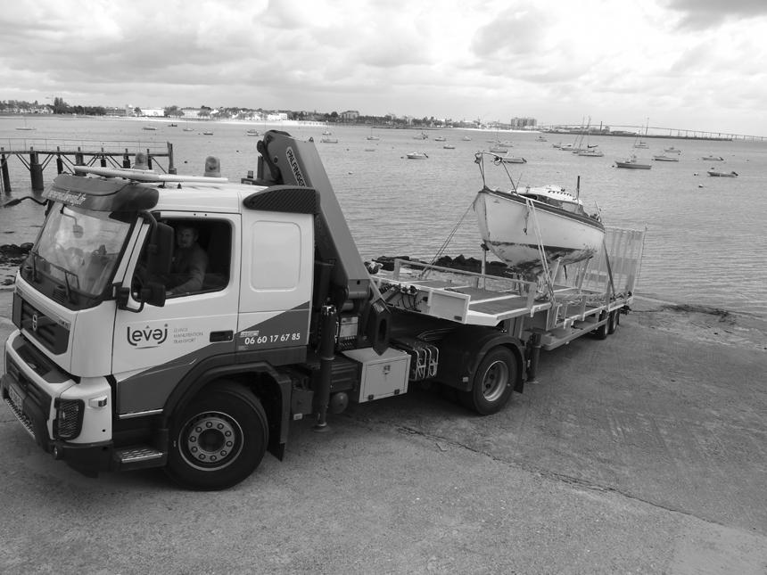 Exemple de chantier de manutention, transport